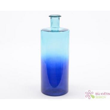Skleněná váza 40cm modrá