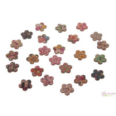 Dřevěné květy 24ks