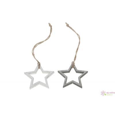 Dřevěné hvězdy svazek mix 6cm 8ks