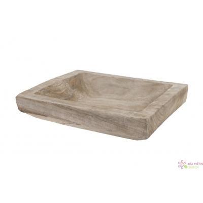 Dřevěný podnos 32cm šedá
