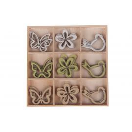Dřevěné ornamenty mix 13cm