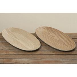 Dřevěný podnos Gritt 42cm hnědá