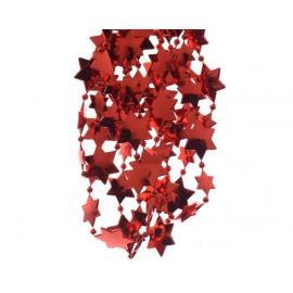 Girlanda s plastovými hvězdami 270cm červená