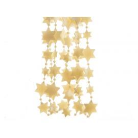 Girlanda s plastovými hvězdami 270cm zlatá