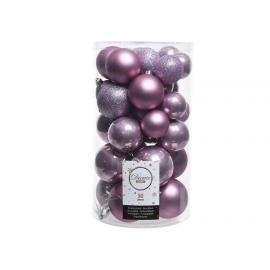 Baňky plast mix 30ks fialová