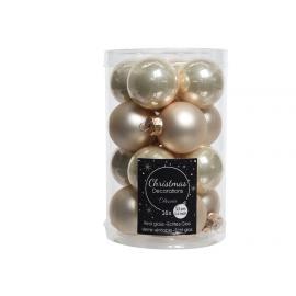 Baňky sklo 35mm 16ks mix perleť