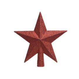 Špice hvězda plast červená