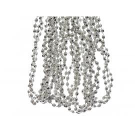 Girlanda s diamantovými korálkami plast 270cm stříbrná