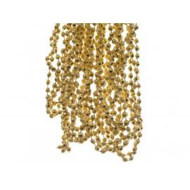 Girlanda s diamantovými korálkami plast 270cm světle zlatá