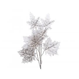Dekorace větev s listy 47x7x85cm stříbrná 1ks
