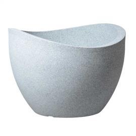 Obal Wave Globe bílý granit