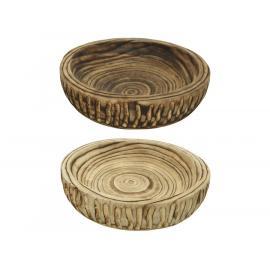 Dřevěný talíř paulownia 30x6,5cm mix 1ks