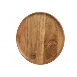 Dřevěný talíř acacia 26x1,5 cm 1ks
