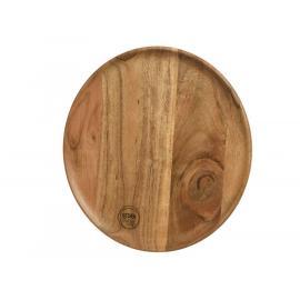 Dřevěný talíř acacia 19,5x1,5 cm 1ks