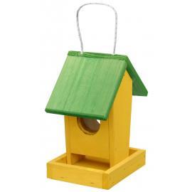 Krmítko pro venkovní ptactvo závěsné žluto- zelené