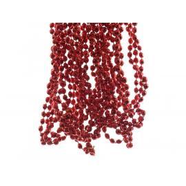 Girlanda s diamantovými korálkami plast 270cm červená