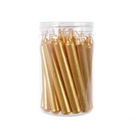 Svíčka mini 10,5 cm zlatá 22 ks