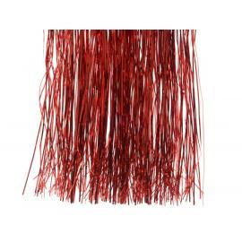 Vánoční lameta třásně 50x40cm červená 1ks