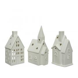Svícen dům na čajovou svíčku 7,8x7x16 cm 1 ks