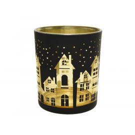Svícen na čajovou svíčku dům 1ks