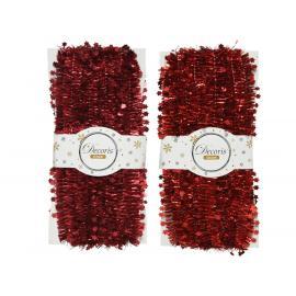 Girlanda třásně 3,8x500 cm mix červená 1ks