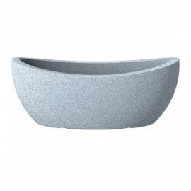 Žardiniera Wave Globe bílá granit